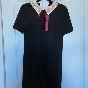 Collard black dress